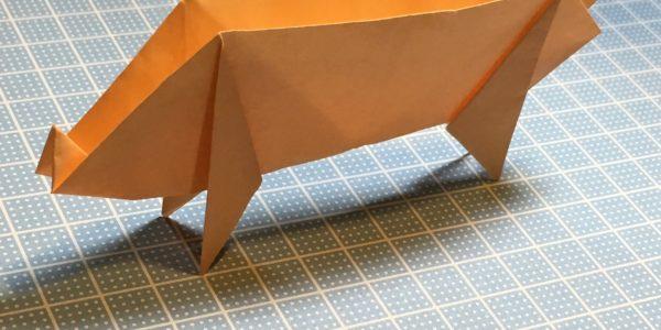 折り紙の折り方(ぶた) How to make Origami pig