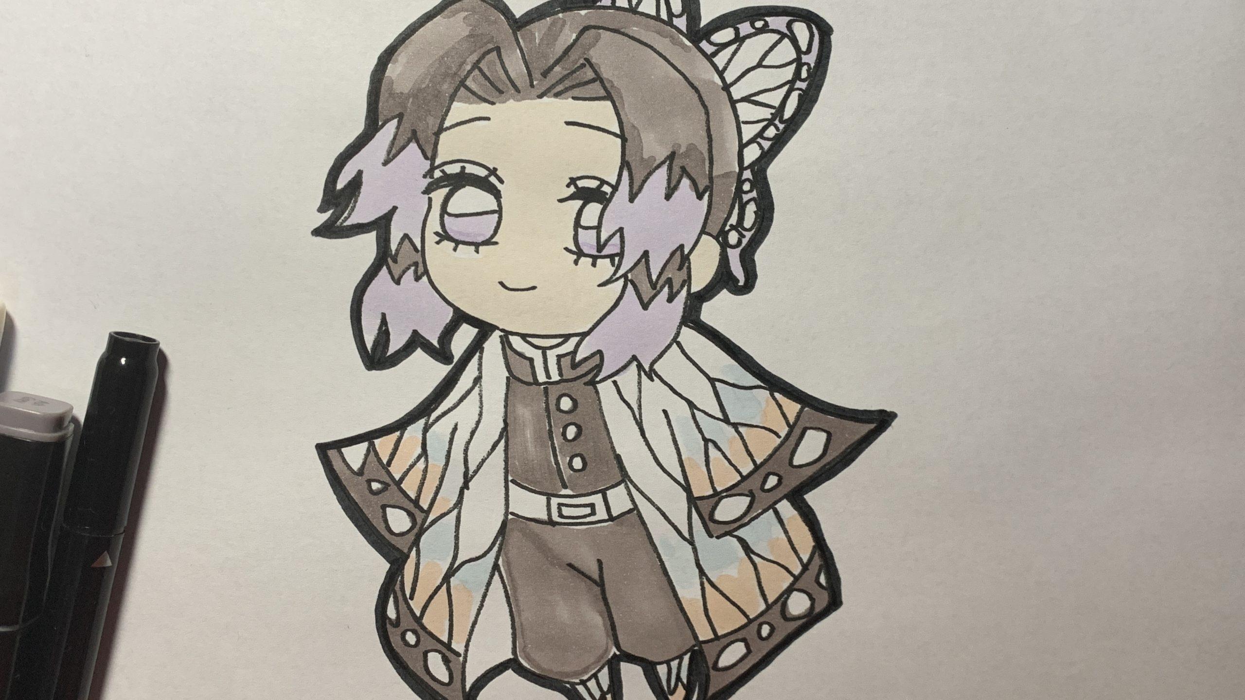 ミニキャラ 鬼滅の刃 しのぶ 【鬼滅の刃】簡単!胡蝶しのぶのミニキャラの描き方
